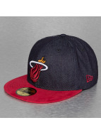 New Era Fitted Cap Denim Suede Miami Heat 59Fifty blau