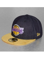 New Era Fitted Cap Denim Suede LA Laker 59Fifty blau