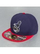 New Era Fitted Cap Camo Cleveland Indians blau