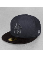 New Era Fitted Cap Diamond Suede NY Yankees blauw