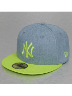 New Era Fitted Cap Heather Team NY Yankees 59Fifty blauw