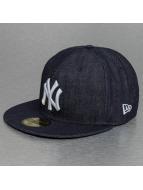 New Era Fitted Cap Denim New York Yankees 59Fifty blauw