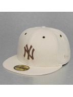 New Era Fitted Cap MLB Crafted Metal NY Yankees braun