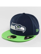 New Era Fitted Cap Team Rubber Logo Seattle Seahawks bunt