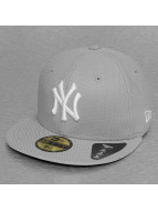 New Era Fitted Cap MLB NY Yankees Diamond Seasonal grau