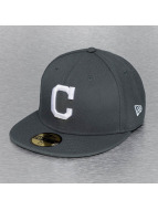 New Era Fitted Cap MLB Basic Cleveland Indians grau