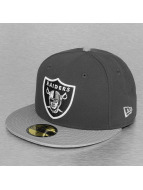New Era Fitted Cap NFL Ballistic Visor Oakland Raiders grau
