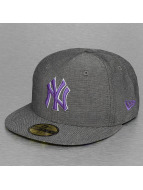 New Era Fitted Cap All Over Chambrey New Work Yankees grau