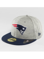 New Era Fitted Cap Team Jersey Crown New England Patriots grau
