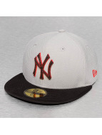 New Era Fitted Cap Diamond Suede NY Yankees grey