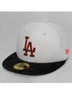 New Era Fitted Cap Diamond Suede LA Dodgers grey