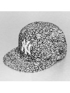 New Era Fitted Cap Flock Crown NY Yankees grijs