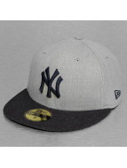 New Era Fitted Cap MLB Heather Contrast NY Yankees 59Fifty grijs