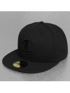 New Era Fitted Cap NBA Black On Black en State Warriors nero