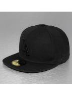 New Era Fitted Cap Black On Black LA Dodgers nero