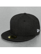 New Era Fitted Cap Heather Essential 59Fifty nero
