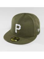 New Era Fitted Cap Seasonal Heather Pittsburgh Pirates 95Fifty olijfgroen