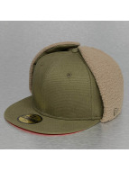 New Era Fitted Cap Quilted Dogear olive