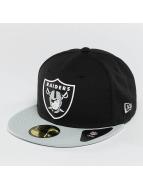 New Era Fitted Cap Team Rubber Oakland Raiders pestrá