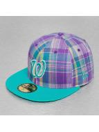 New Era Fitted Cap Plaid Pop Washington Nationals purple