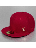 New Era Fitted Cap Melton Metal NY Yankees rood