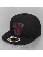 New Era Fitted Cap Team Chrome Brooklyn Nets rood