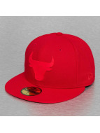 New Era Fitted Cap Team Rubber Logo Chicago Bull rood