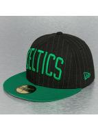 New Era Fitted Cap NBA Pin Crown Boston Celtics schwarz