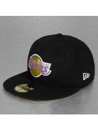 New Era Fitted Cap Teametallic LA Lakers schwarz