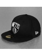 New Era Fitted Cap Teametallic Brooklyn Nets schwarz