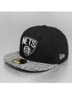 New Era Fitted Cap NBA Tonal Zebra schwarz