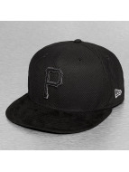 New Era Fitted Cap Diamond Suede Pittsburgh Pirates schwarz