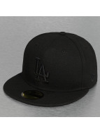 New Era Fitted Cap Tonal Poly LA Dodgers 59Fifty schwarz