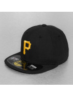 New Era Fitted Cap Authentic Performance Pittsburgh Pirates 59Fifty schwarz