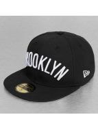New Era Fitted Cap Basic Wordmark Brooklyn Nets 59Fifty schwarz
