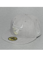 New Era Fitted Cap Tonal Heather Chicago Bulls 59Fifty szary