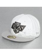 New Era Fitted Cap Panel Splatter LA Kings 59Fifty weiß