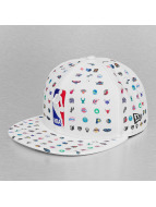 New Era Fitted Cap Micro Pattern NBA weiß
