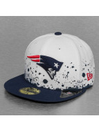 New Era Fitted Cap Splatter New England Patriots weiß