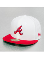 New Era Fitted Cap White Top Team Atlanta Braves wit
