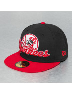 New Era Fitted Cap Script Down NY Yankees zwart