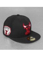 New Era Fitted Cap Team Patch Chicago Bulls zwart