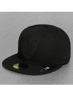 New Era Fitted Cap Team Rubber Logo Oakland Raiders zwart