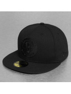 New Era Fitted Cap NBA Black On Black Brooklyn Nets 59Fifty zwart