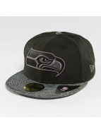 New Era Fitted Cap Grey Collection Seattle Seahawks 59Fifty zwart