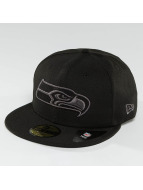 New Era Fitted Cap Black Graphite Seattle Seahawks 59Fifty zwart