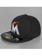 New Era Fitted Cap Authentic Performance Miami Marlins 59Fifty zwart