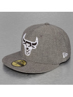 New Era Fitted Chamsuede Chicago Bulls noir