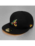 New Era Fitted Col Junction II Atlanta Braves noir