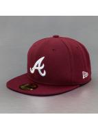 New Era Fitted League Basic Atlanta Braves rouge